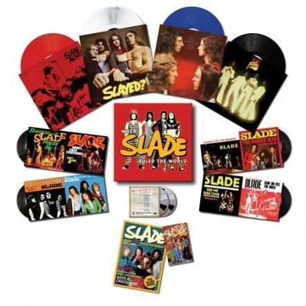 "Slade -When Slade Rocked The World 1971-1975/ Vinyl, 12""+7""+ CD [ 4LP/ Coloured/ 180 Gram + 4SP(Single)/ 45 RPM/ Picture Sleeve + 2CD + Flexi-disc/ 45 RPM/ Single Sided] [ Box Set] [ Deluxe Edition] [ Limited Edition, Numbered/ Only 1000!] ( Compilation)"