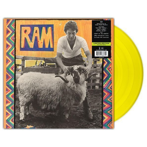 "McCartney, Paul - Paul And Linda McCartney - Ram/ Vinyl, 12"" [ LP/ 180 Gram Audiophile Yellow Vinyl/ Gatefold] [ Limited Edition] ( Remastered, Reissue 2017)"